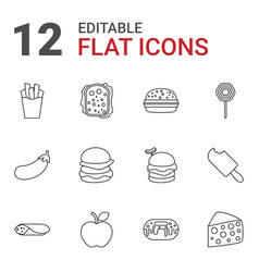 snack icons vector image