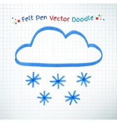 Snowy cloud vector image