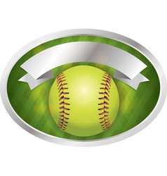 softball emblem vector image