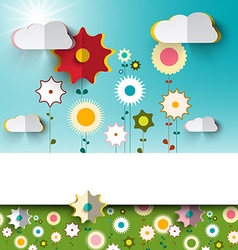Spring - Summer Sunny Flowers on Garden - Field vector