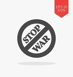 Stop war sign concept icon Flat design gray color vector