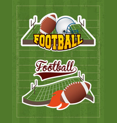 Superbowl sport poster with balloons in stadium vector