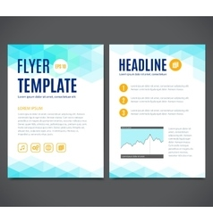 Template design of flyer brochure cover vector