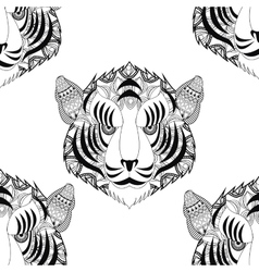 Tiger icon Animal and Ornamental predator design vector image