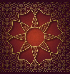 traditional ornamental background with eight vector image