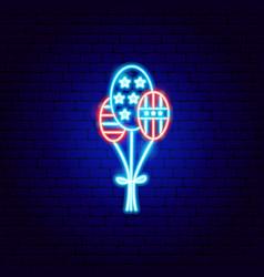 usa balloons neon sign vector image