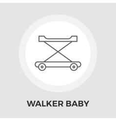 Walker baby flat icon vector