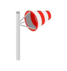 Windsock isometric 3d icon vector