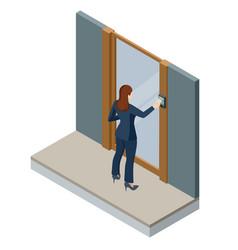 Wireless door lock icon smart lock system vector