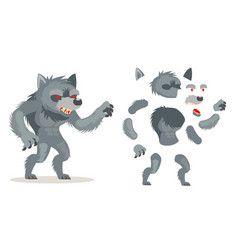 Wolf werewolf monster fantasy medieval action rpg vector