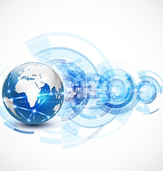 World network communication and technology concept vector image