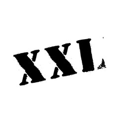 xxl rubber stamp vector image