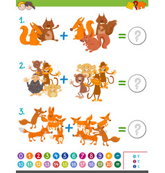 addition maths game for kids vector image