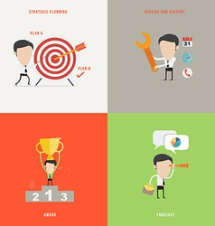 Element of businessconcept icon in flat design vector image vector image