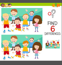 Spot the differences with children vector