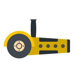 Yellow circular saw icon isolated vector