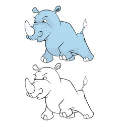 cute little hippo cartoon vector image vector image