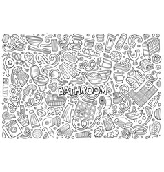 et of bathroom objects vector image vector image