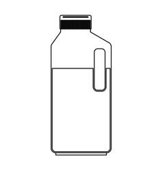 orange juice bottle in monochrome silhouette vector image vector image