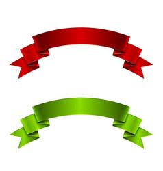 Red and green ribbon vector image