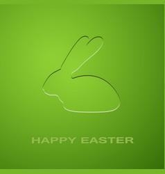 easter green rabbit vector image vector image