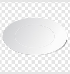 empty white dish plate background vector image vector image