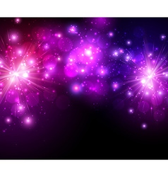 Festive lilac firework background vector image
