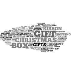 gifts word cloud concept vector image vector image