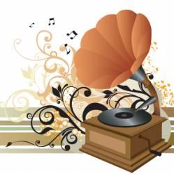 gramophone illustration vector image vector image
