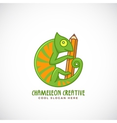 Chameleon Creative Abstract Line Style vector image vector image