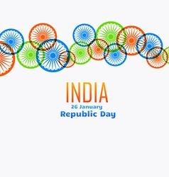 Indian flag wheel design vector