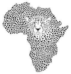 Symbol Africa in cheetah camouflage vector image vector image