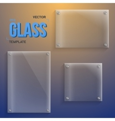 Transparent Glass Set of Realistic vector image vector image