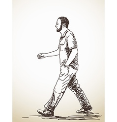 walking young Man vector image vector image