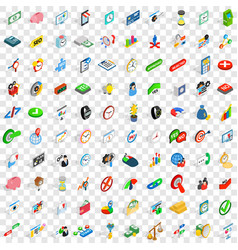100 trade icons set isometric 3d style vector