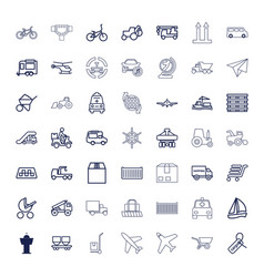 49 transport icons vector
