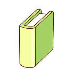 A text book is placed vector