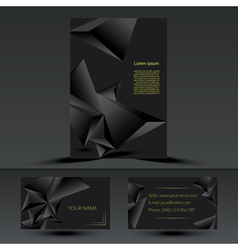 Abstract black corporate brochure template vector image