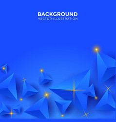 abstract blue triangle background 3d triangles vector image