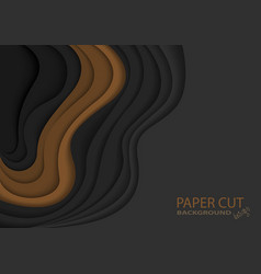 abstract paper cut layers vector image