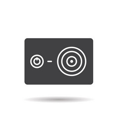 Action camera glyph icon vector