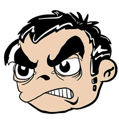 Angry boy head vector