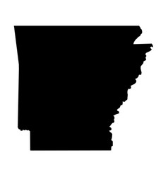 Arkansas state of usa - solid black silhouette vector