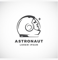 Astronaut abstract sign emblem icon or vector