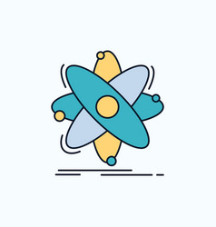 atom science chemistry physics nuclear flat icon vector image