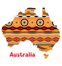 australia map with traditional vector image