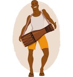 Bata drum musician vector image
