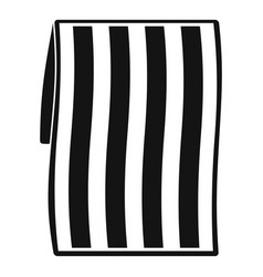 beach towel icon simple style vector image