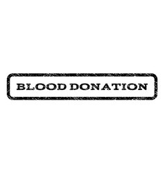 Blood donation watermark stamp vector