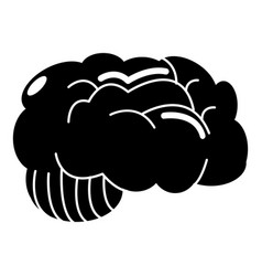 Brain icon simple style vector